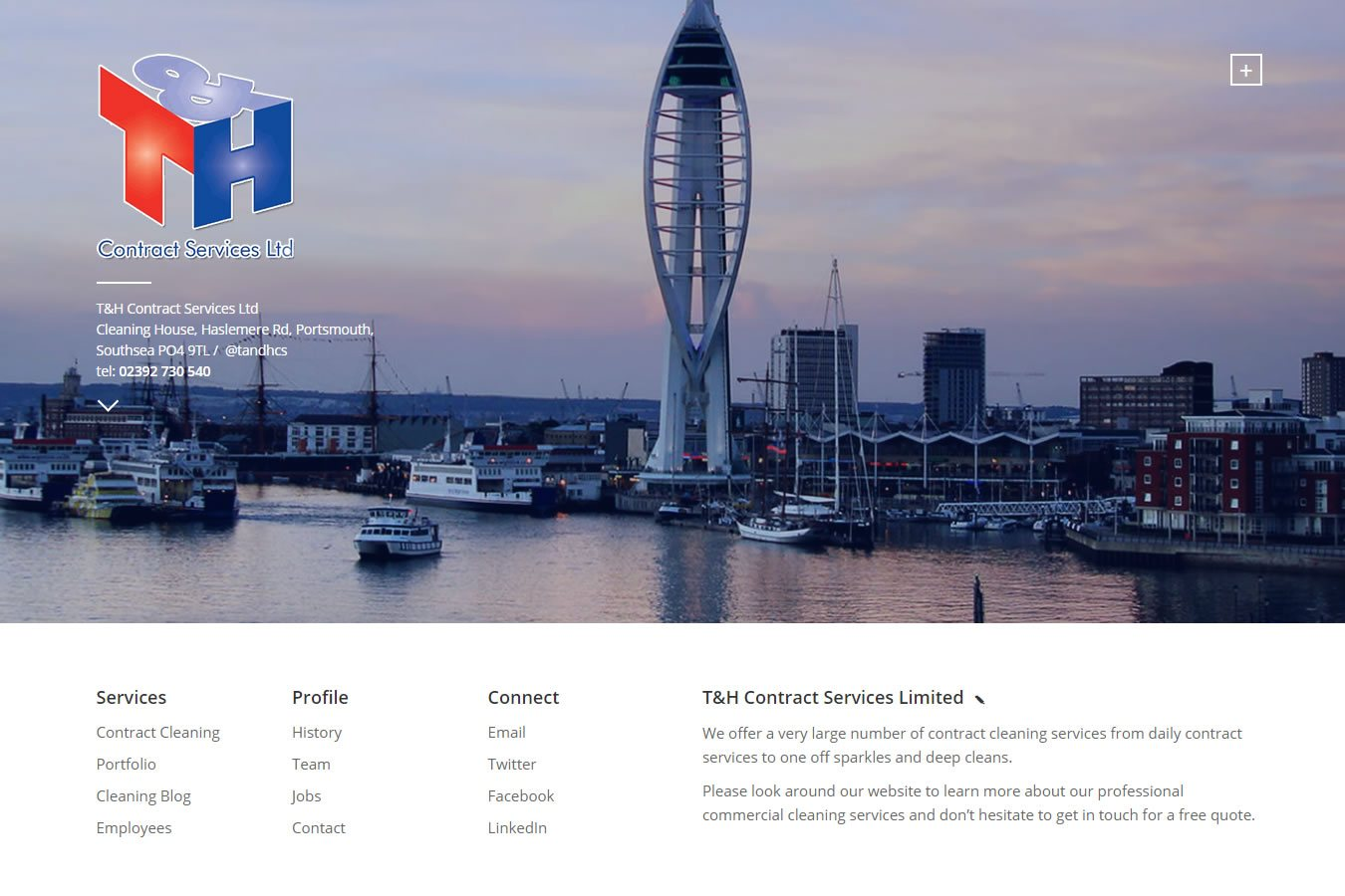 T&H Contract Services Limited's New Look Website