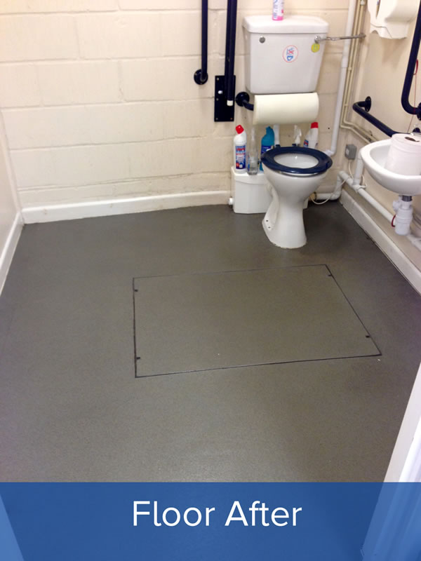 Toilet Floor After Cleaning
