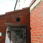 Brickwork cleaned from fire damage