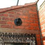 Fire damaged cleaned brickwork