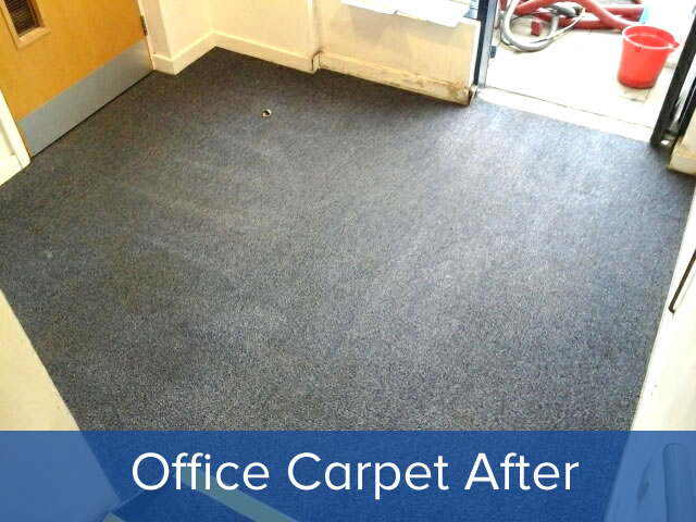 Office carpet cleaning after clean photo