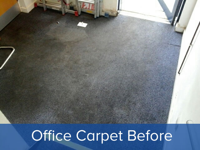 Office carpet cleaning before clean photo