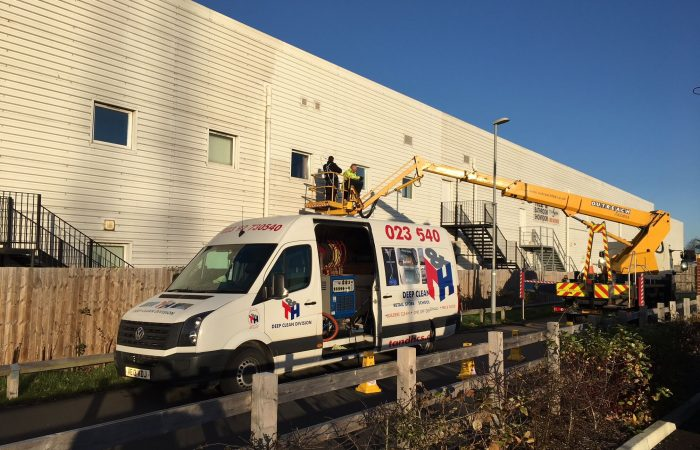 External Cladding Cleaning by T&H Contract Services Ltd