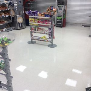 After retail floor cleaning & resealing