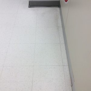During retail floor cleaning