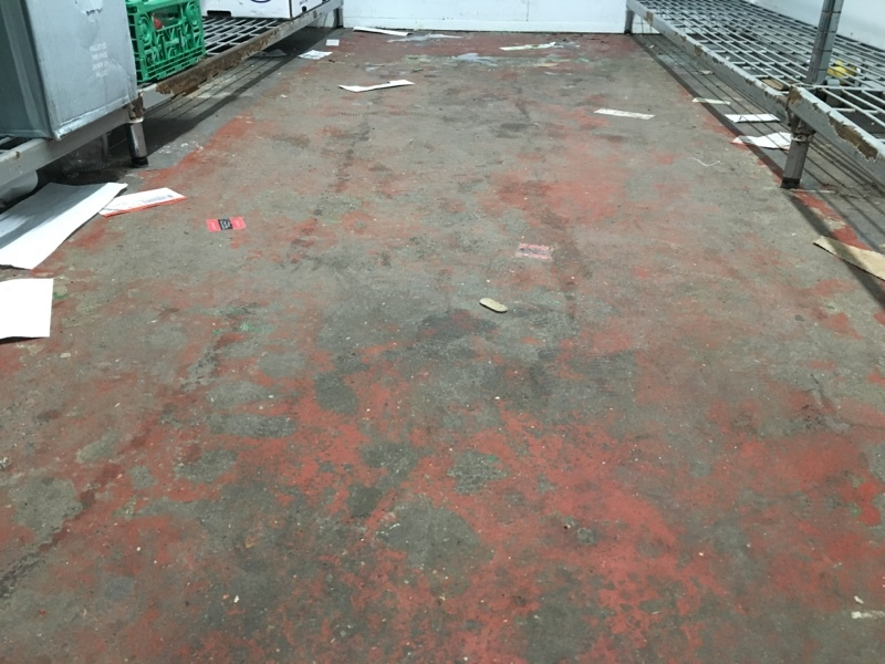 Chiller Flooring before cleaning