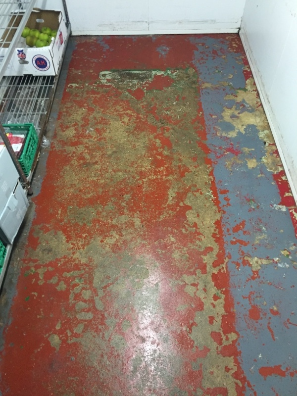 Chiller Flooring cleaned and degreased