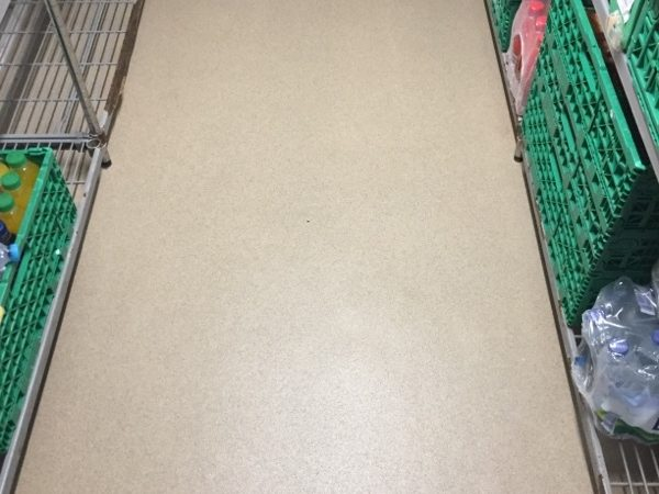 Finished chiller room safety flooring job