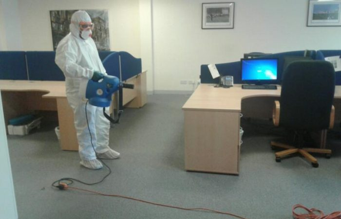 Our fogging team get a local office ready for the staff to return