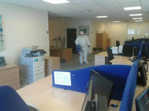Fogging throughout the office area