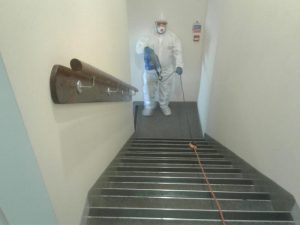 Fogging the staircase