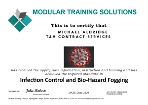 Infection Control Certificate