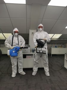 Our team use fogging technology to protect our offices from viruses and bacteria.