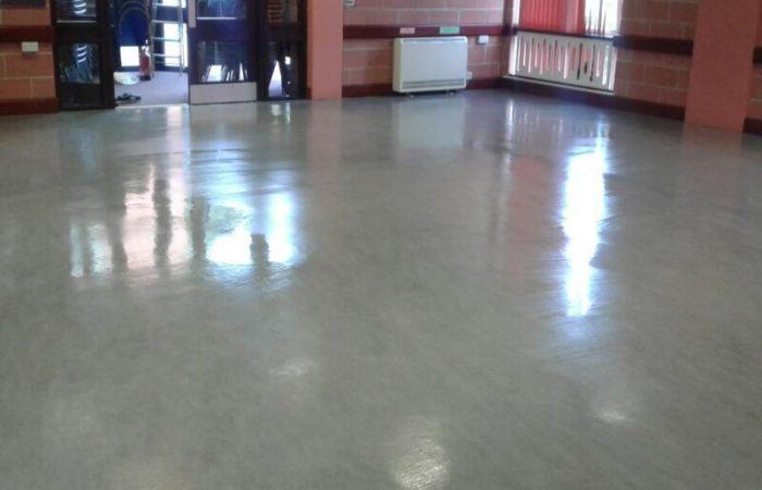 The completed floor shines