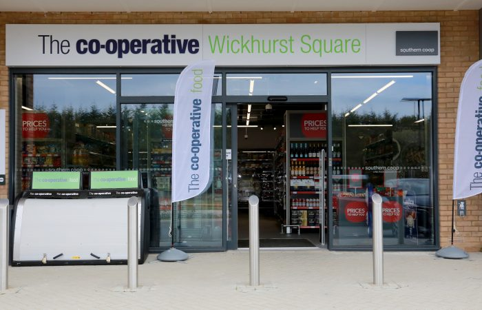 Photos showing the finished Co-op ready for opening