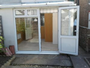 Photo of cleaned conservatory windows