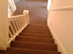 Photo of cleaned stair carpet