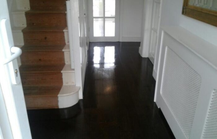 After cleaning the floors are restored to a high shine finish.