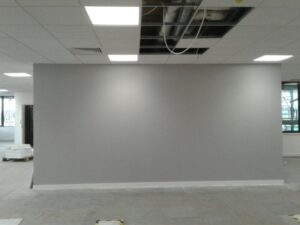 The finished painted walls